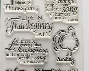 Impression Obsession - Live in Thanksgiving Acrylic Stamp Set