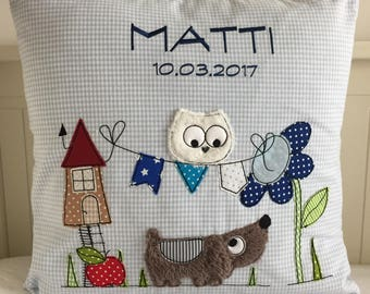 Sweet name pillow, personalized cuddle pillow
