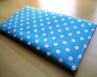 Polka Dots on Baby Blue  -  Apple Magic Keyboard Sleeve, Apple Keyboard Case, Samsung Wireless Keyboard Sleeve - Padded and Zipper Closure