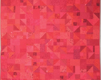 Red Hot Mama Throw/Twin Quilt - 60 in. X 72 in.