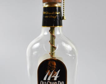 Old Grand Dad 114 Bourbon Bottle Lamp/handmade/man cave/light/bourbon lamp/bottle light/liquor/bar/gifts for men/whiskey bottle lamp
