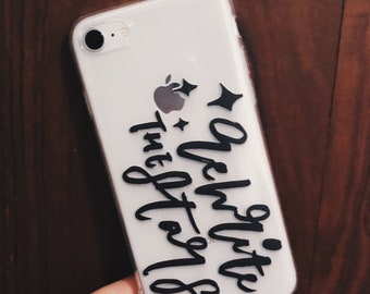 Rewrite the Stars iPhone 7/8/7Plus/8Plus Case, iPhone case, greatest showman, brush lettering, hand lettering, quote, hand made,gift for her