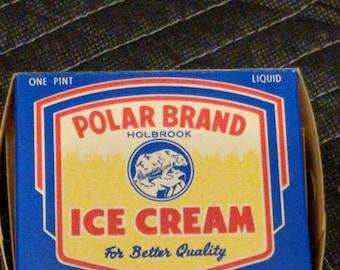 NOS 1940's Polar Brand Holbrook Ice Cream - Old & Original