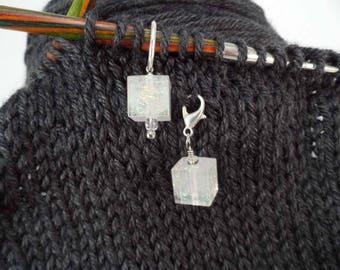 Crystal Balze Captured Fiber and Resin Stitch Marker and Progress Keeper Set