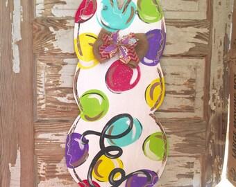 Easter Door Hanger - Personalized Door Hanger - Easter Decor - Easter Decorations - Bunny Door Hanger - Easter