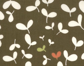 Moda Chrysalis by Sanae Seed Pods Brown cotton Fabric by the yard 32425-13