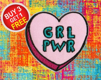 Feminist Patches Love Patches Iron On Patch Embroidered Patch Sew On Patch Jean Patches