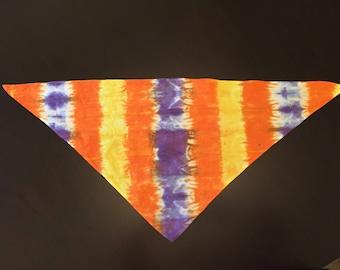 BANDANA, Cotton, Tie-Dye, Triangle Shape, For Pets or People