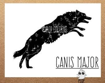 Wolf Constellation Giclee' Art Print