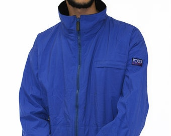 Vintage Polo Sport Fleece Lined Jacket Size XL
