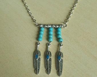 Boho Blue Necklace