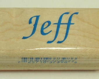 Jeff Wood Mounted Rubber Stamp By Inkadinkado