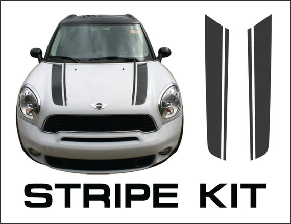 Mini Cooper Hood Stripe Kit S Type Countryman Racing Stripes