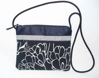 Essential bag, Black and white, crossbody handbag