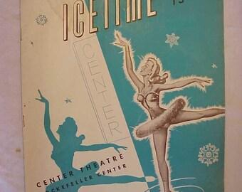 1948 Sonja Henie and Arthur M. Wirtz presents Icetime Center Theatre  Rockefeller Center Ice Skating Program