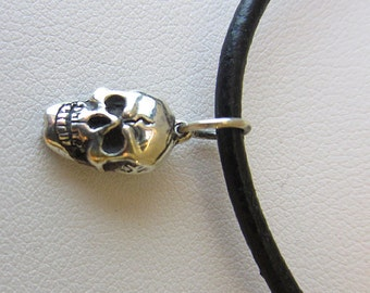 Anatomy Skull Necklace Sterling Silver  Handmade