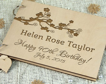 Unique Personalized Memorable Birthday Gift, Bridal Shower-Wedding-Anniversary Guest Book, Gift for couple, Memory book, Any Occasion Gift