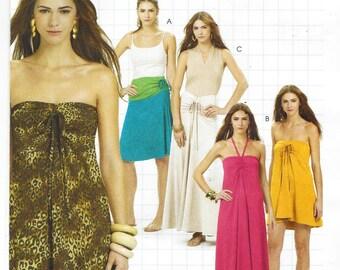 Womens Skirt or Dress Summer Dress OOP McCalls Sewing Pattern M6081 Size 12 14 16 18 Bust 34 36 38 40 UnCut DIY Style Pattern