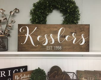 Captivating Last Name Sign, Last Name Wood Sign, Last Name Established Sign, Last Name  Wall Art, Last Name Sign Wood, Established Sign