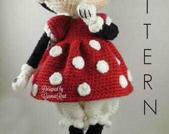 Minnie - Amigurumi Doll Crochet Pattern PDF