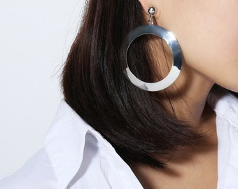 Alloy Fashion Geometric Hoop earrings (Silver)