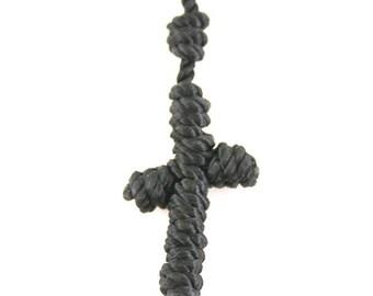 Geknotet Rosenkranz Kordel Rosenkranz Halskette-Kreuz Halskette-militärischen Schnur Rosenkranz geknotete Seil Halskette-Mutter Tagesgeschenke