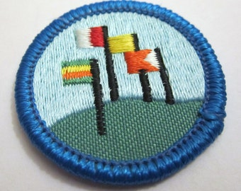 "Junior Girl Scout Badge ""World Neighbors"" circa 1980"