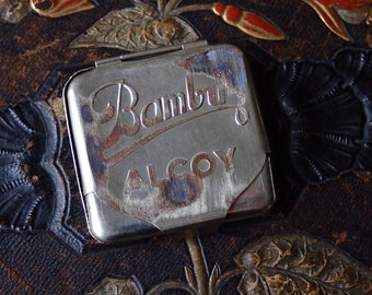 Bambu rolling papers tin, Vintage tins, Bambu Alcoy tin, Made in Spain, Rustic tins, Advertising tin