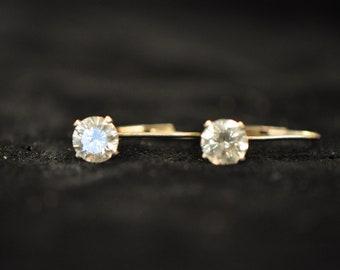 Vintage 925 Silver earrings. CZ stones.