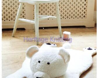 Bear rug dk knitting pattern 99p