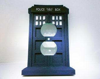 3D Tardis Police Box Outlet Cover Plate
