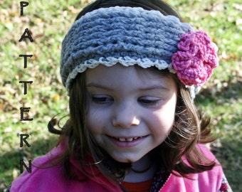 Crochet headband pattern, crochet ear warmer pattern, Colleen Ear Warmer pattern