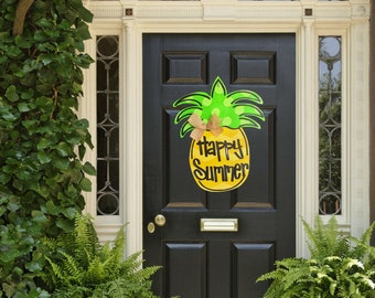 Pineapple Door Decor Etsy