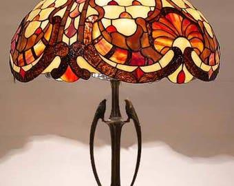 Tiffany Lamp 16'' Louis XIV, Tiffany Desk Lamp, Tiffany Lamp, Desk Lamp, Lamp