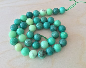 Green Grass Agate Beads 10mm