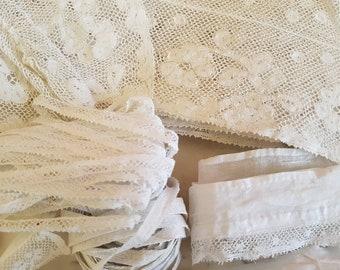 Ancien Français matière Lot rare pour chapellerie chapeau en dentelle dentelle broderie broderie fabrication artisanale maison robe que