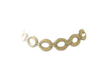 Belt Disco Gold Chain Link Wide Statement Size Small
