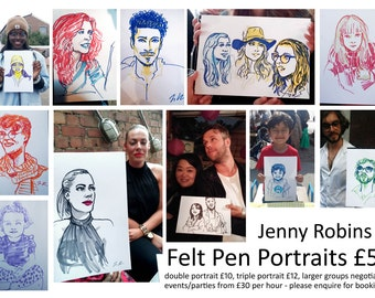 Live Portrait Illustrations at your event (within Greater London only)