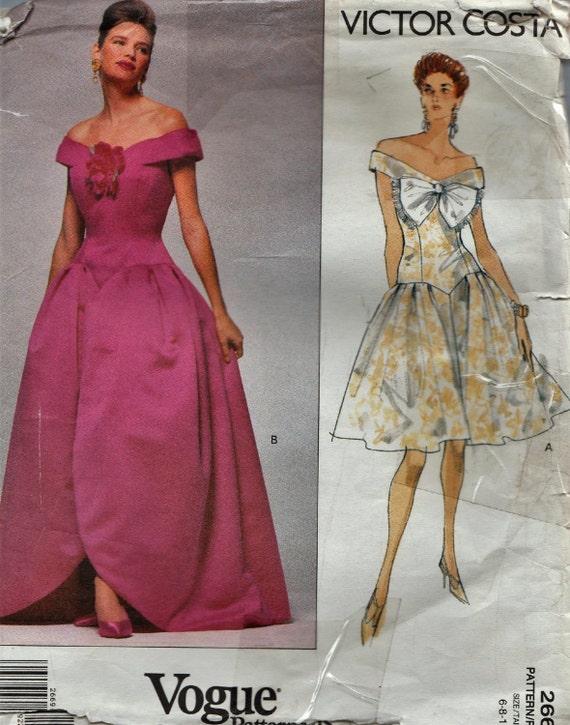 Vogue 2669 / Vintage Designer Sewing Pattern By Victor Costa / Off ...