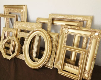 Gold Picture Frame Set, FREE SHIPPING, Custom, Classic Antique Gold, Hand Painted Ornate, Gallery Wall, Nursery Art, Home Decor Wedding