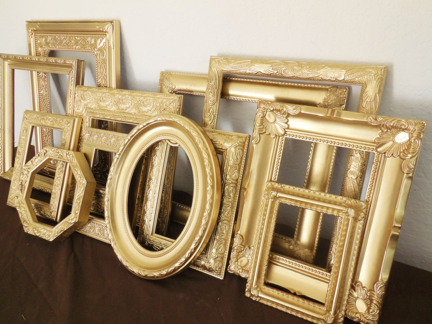 Gold Picture Frame Set, FREE SHIPPING, Custom, Classic Antique Gold ...