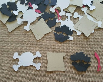 100 piece Pirate Theme Confetti, Pirate Birthday, Pirate Confetti, Boys Birthday Confetti,