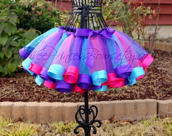 Ribbon Tutu - Birthday Tutu First Birthday Infant Toddler Tutu Pink Blue Purple