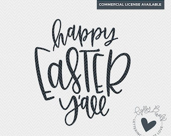 Happy Easter Y'all | Easter SVG | SVG Easter Designs | Easter Cut File | Easter SVG Files | Southern svg Design | Southern Easter