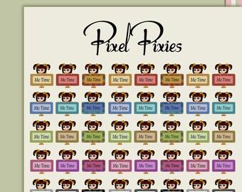 Planner stickers journal stickers big eye art stickers pixel doll stickers me time stickers