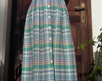 Original skirt 50s tartan 100% cotton size: M UK 10 USA 8
