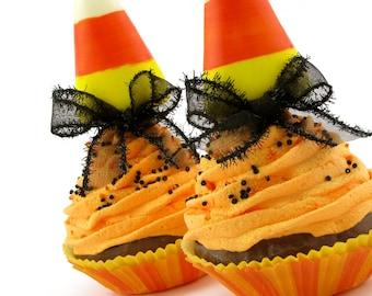 Candy Corn Fake Cupcake for Halloween Home Decor Halloween Cupcake Photo Prop Candy Corn Decor