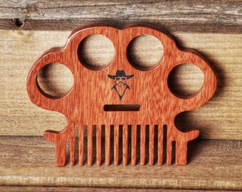 Honest Outlaw Wooden Beard and Hair Comb - Duster Style