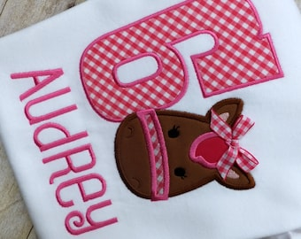 Horse Themed Birthday Shirt Personalized