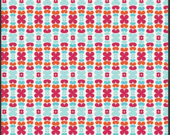 Kitchenette Raspberry, Color Me Retro by Jeni Baker for Art Gallery Fabrics 1 Yard Cut